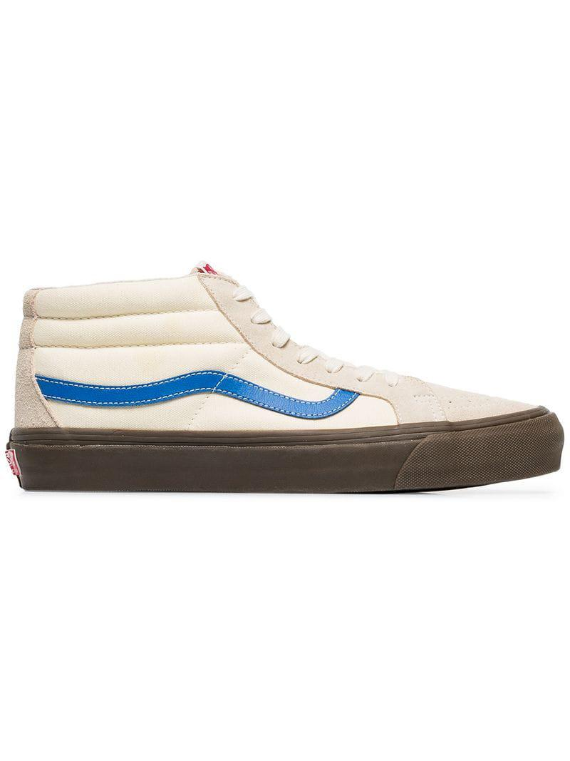 411c40bac9 Lyst - Vans White And Cream Vault Suede Skater Shoes for Men
