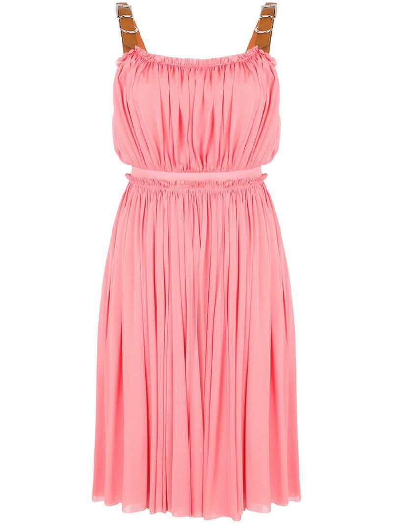 954c405c9a1 Lyst - Robe courte plissée Alexander McQueen en coloris Rose - 29 ...