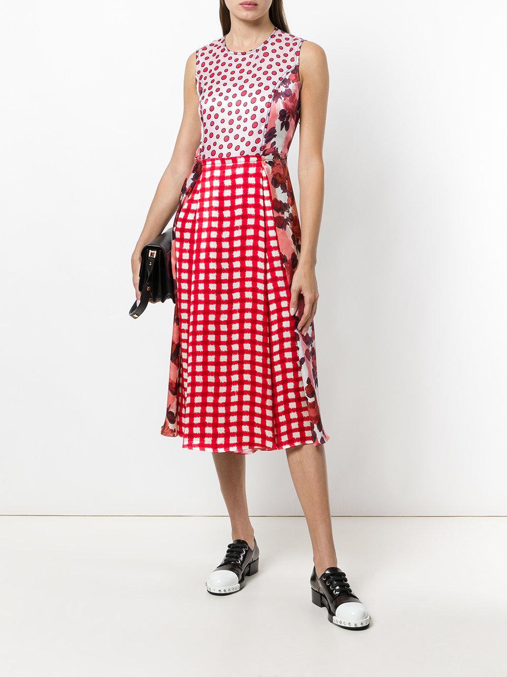 8fe02cc26ef Lyst - Marni Ingrid Print Midi Sundress in Red - Save 50%