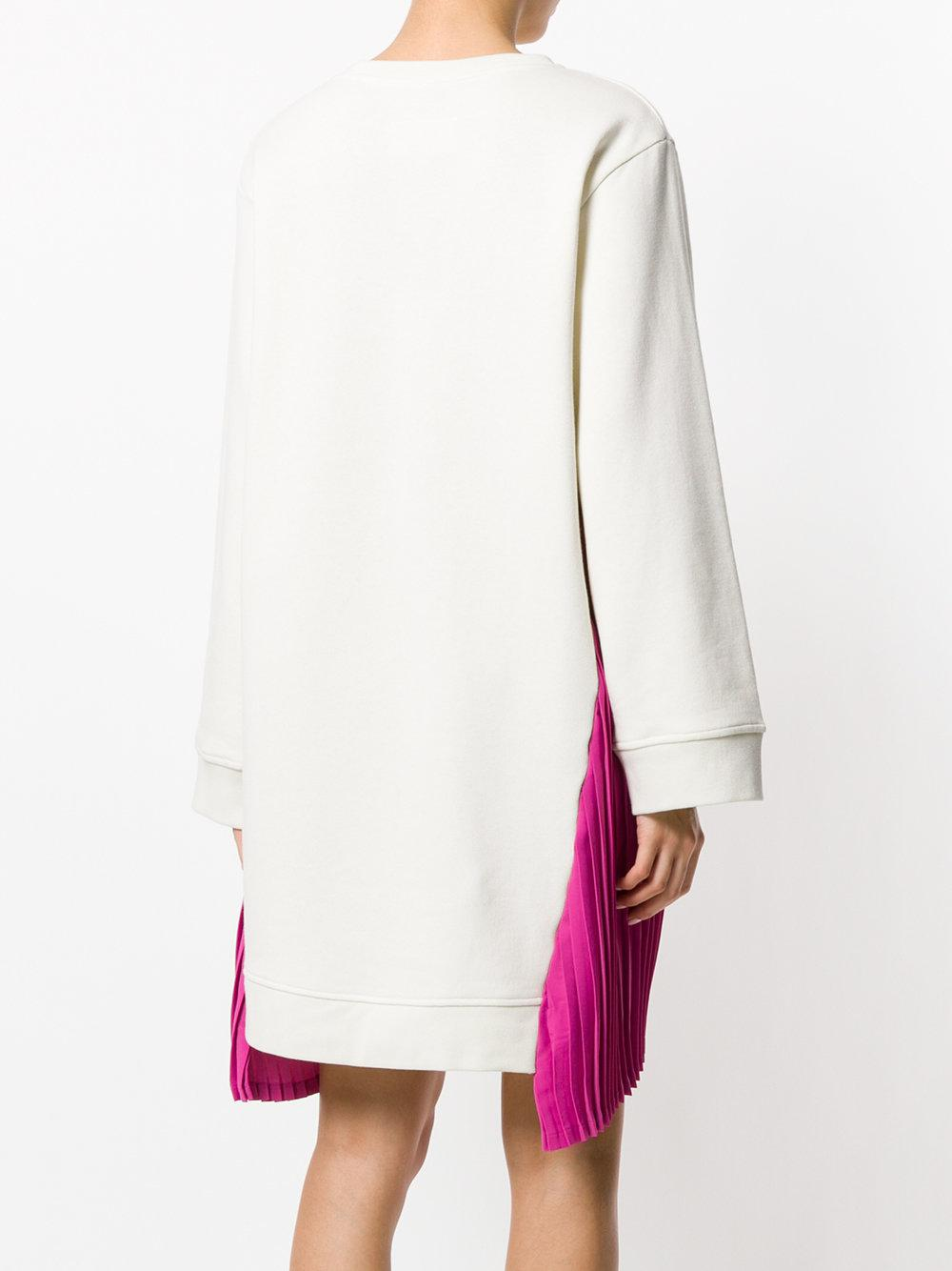 pleated side dress - White Maison Martin Margiela QTj8T