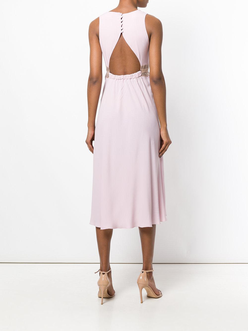 sheer waist dress - Pink & Purple N tWLf9ecBFA