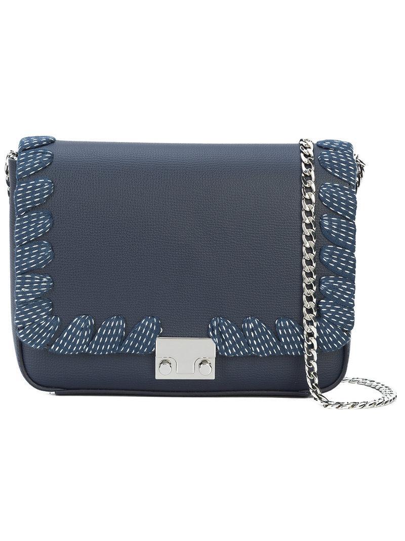 lace-up trim shoulder bag - Blue Loeffler Randall S6EfvEKc