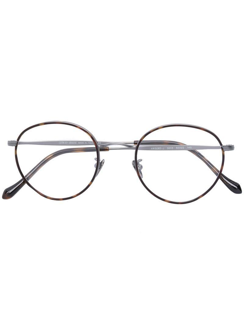 6e930b5194ea Giorgio armani round frame glasses in brown for men lyst jpg 800x1067 Giorgio  armani round frame