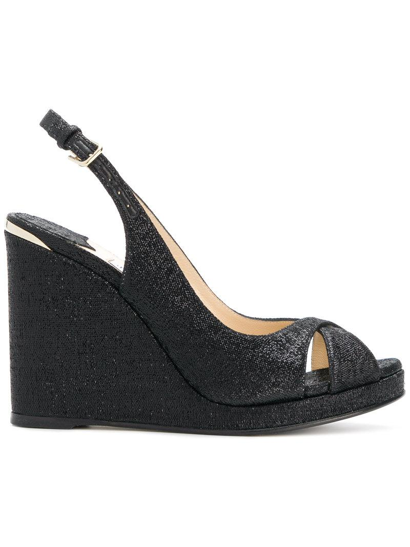 9bf5b3af9127 Jimmy Choo Amely 105 Sandals in Black - Lyst