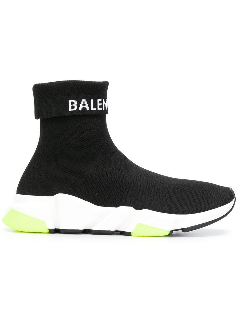 2963d38192a6a Balenciaga Speed Sneakers in Black for Men - Lyst