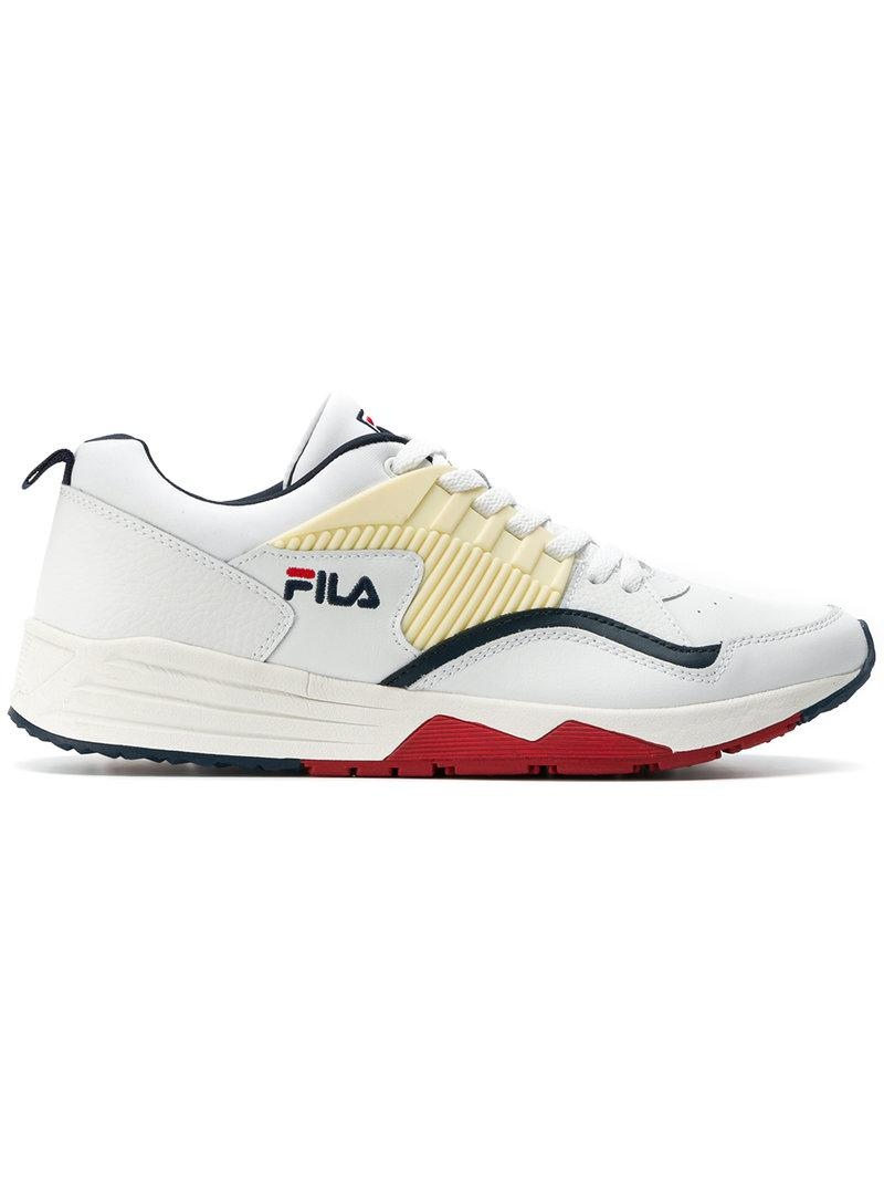 Discount Fila Riot F Low White Sneakers for Men Sale Online