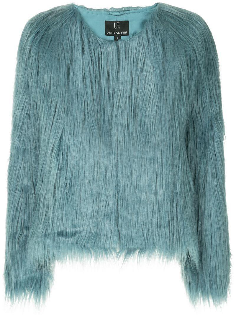 022407a7caf ... Blue Unreal Dream Faux Fur Jacket - Lyst. View fullscreen