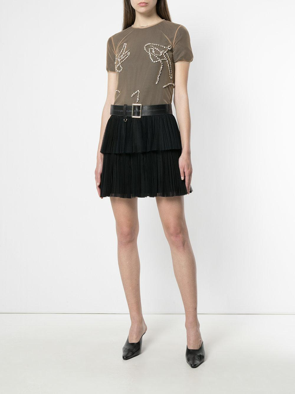 sheer embellished T-shirt - Nude & Neutrals Y / Project