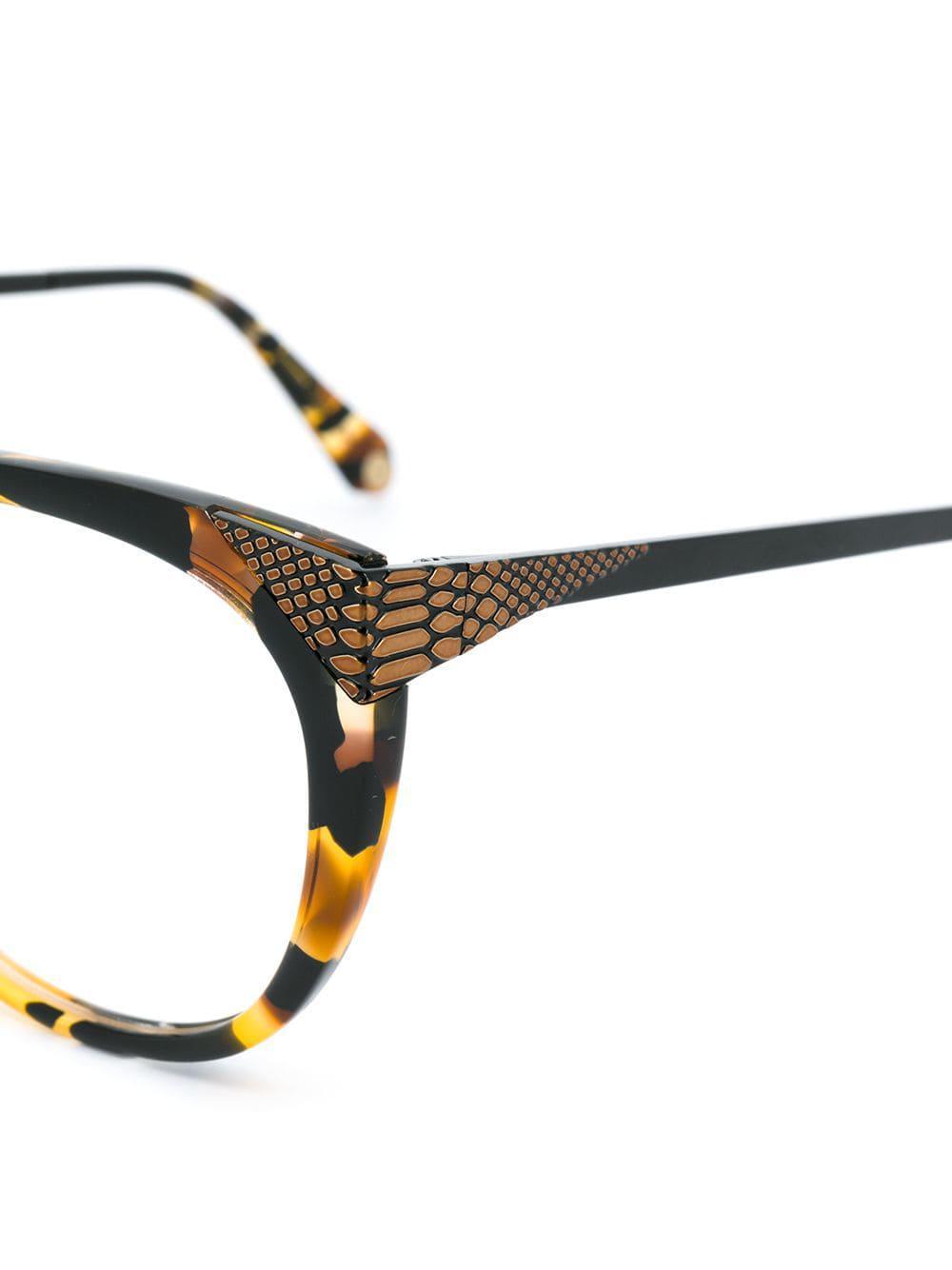 8fe6176a258e40 Balmain - Brown Lunettes de vue à monture papillon - Lyst. Afficher en  plein écran