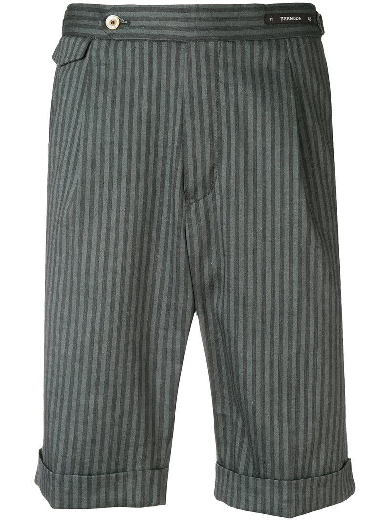 Striped bermuda shorts PT01 wBD2cXsXeB