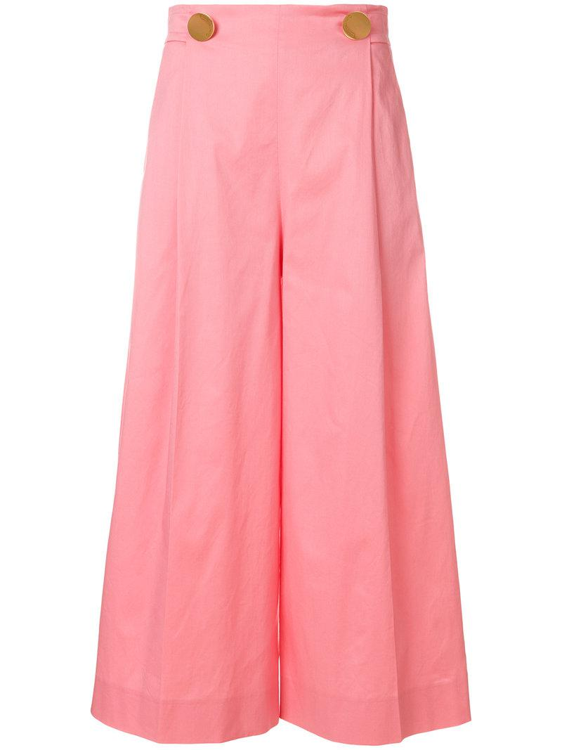 flared cropped trousers - Pink & Purple L'autre Chose SuTdVi