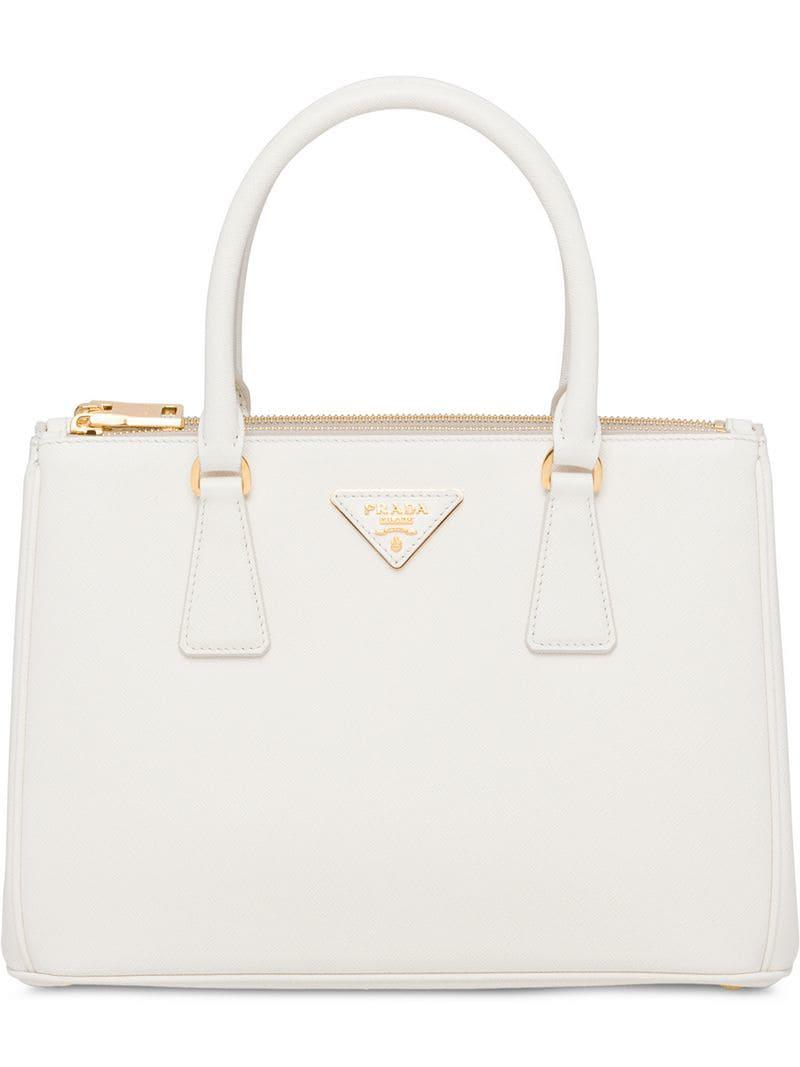 fd28895ed68d Prada Galleria Bag in White - Lyst