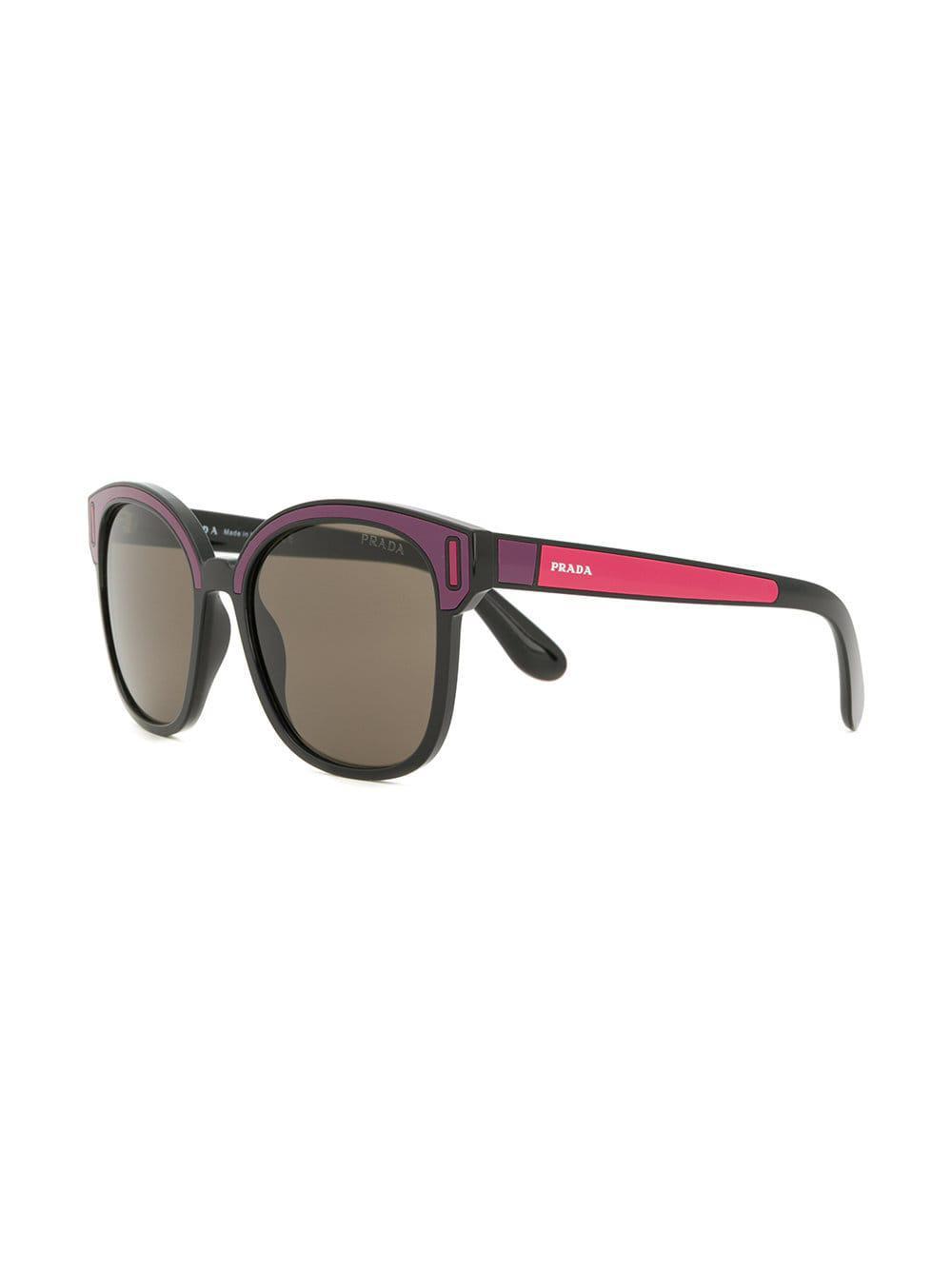 885875799e4 Prada - Pink Colourblock Square Sunglasses - Lyst. View fullscreen