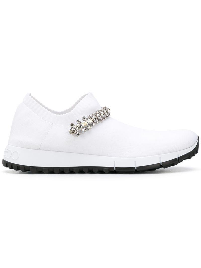 4354cd055a78 Jimmy Choo Verona Sneakers in White - Lyst