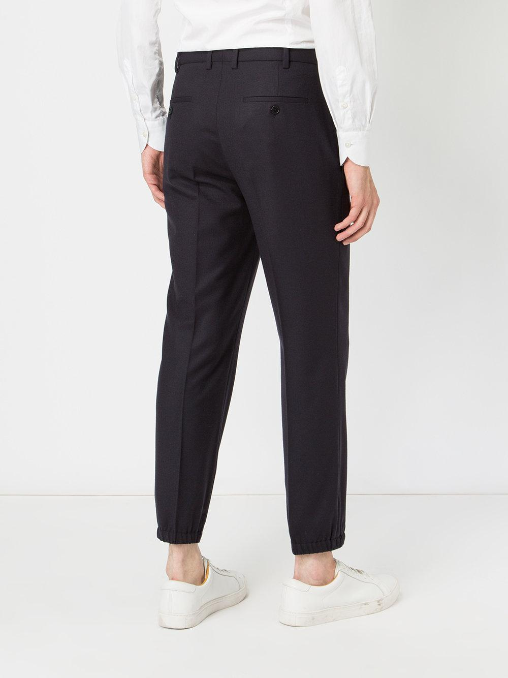 tailored fitted trousers - Blue Neil Barrett U7C3TcL4p
