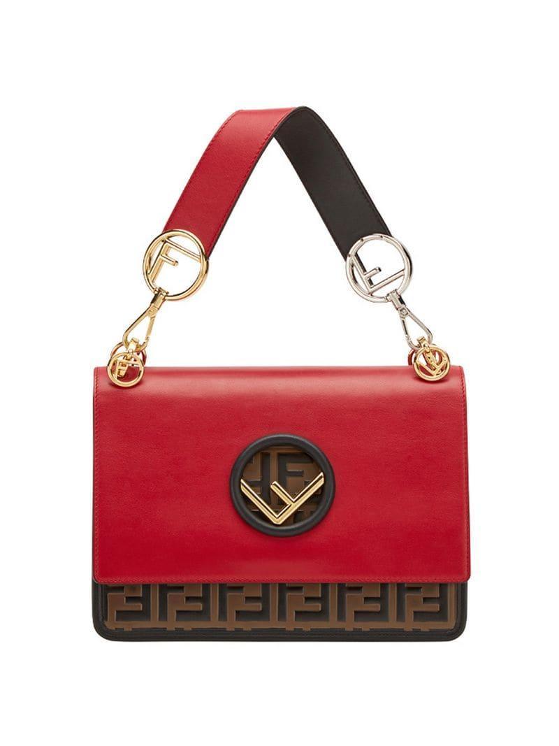 Lyst - Fendi Kan I F Shoulder Bag in Red - Save 3% ce98190a72fc9