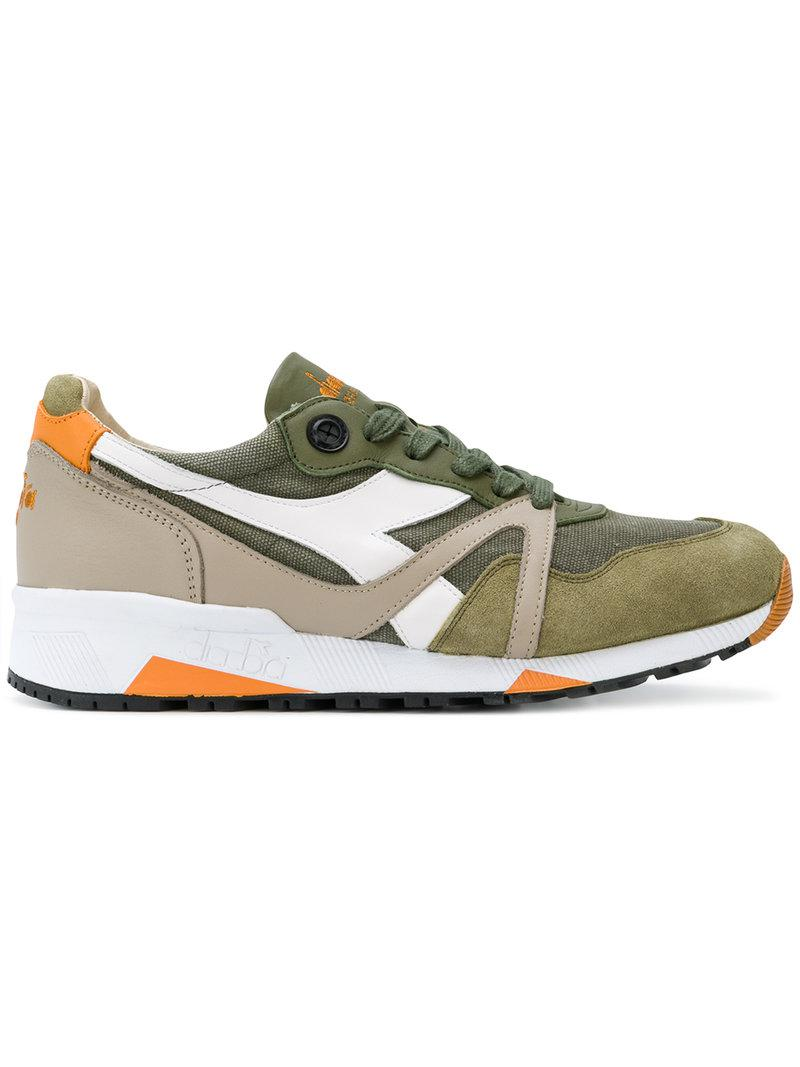 Fast Delivery Equipe' panelled lace up trainers mens Gray DIADORA Mens DIADORA