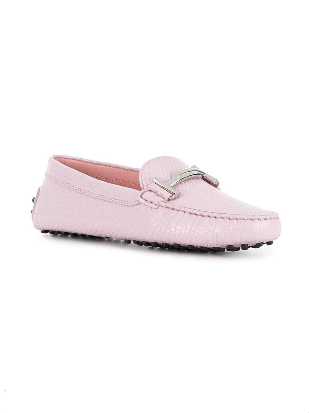 9eaa9a88c3a Tod s - Pink Gommino Loafers - Lyst. View fullscreen