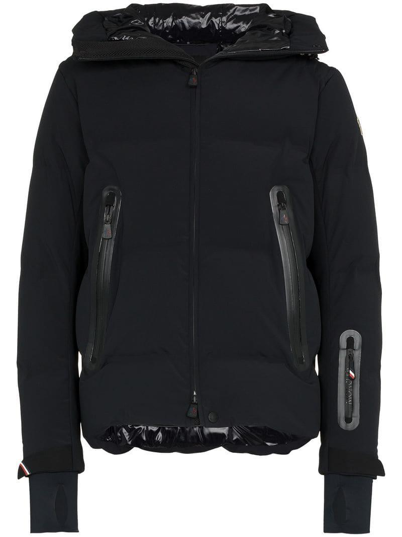 d451a466aab0 Moncler Grenoble. Men s Black Padded Reversible Feather Down Hooded Jacket