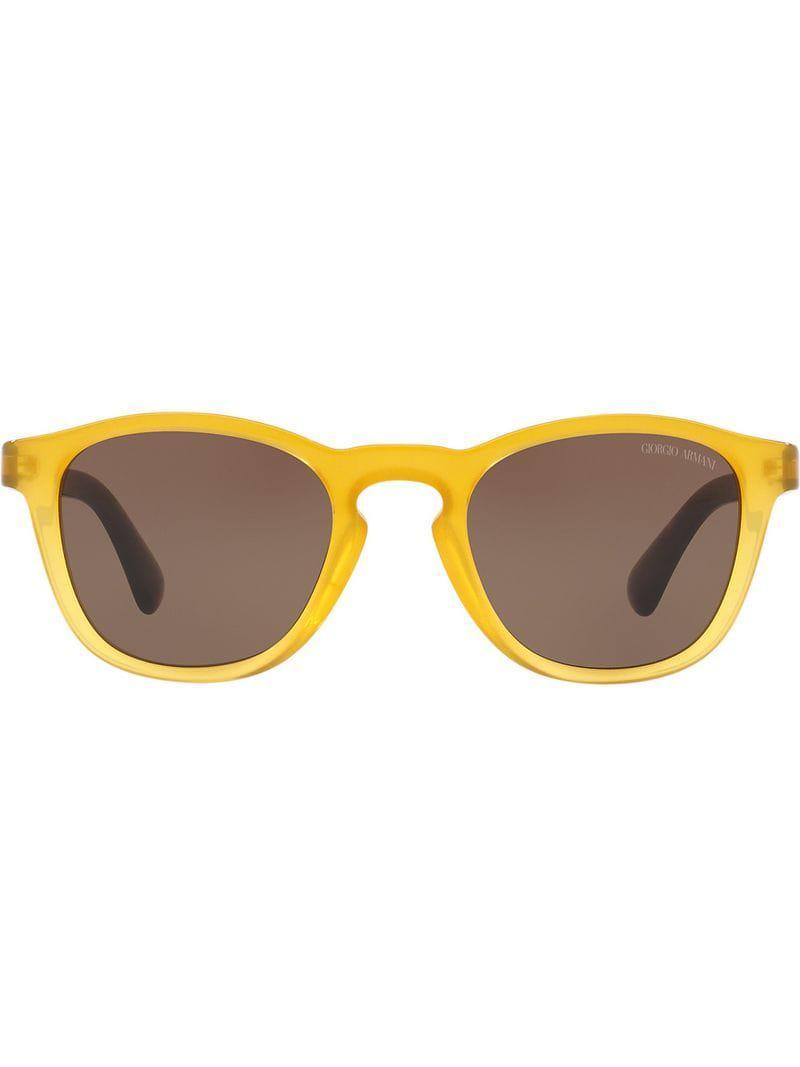 bed95a280f Gafas de sol con montura cuadrada Giorgio Armani de hombre de color ...