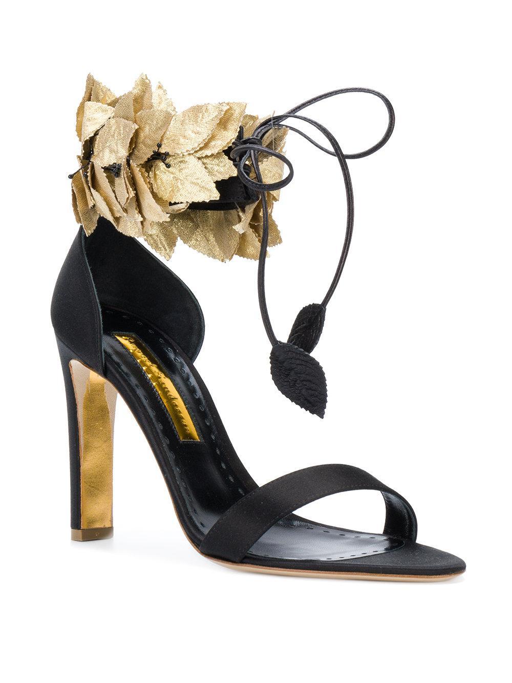 Rupert Sanderson leafy ankle strap sandals - Black farfetch bianco Venta Cómoda Manchester Gran Venta Compras En Línea Para La Venta yjC0Hrg