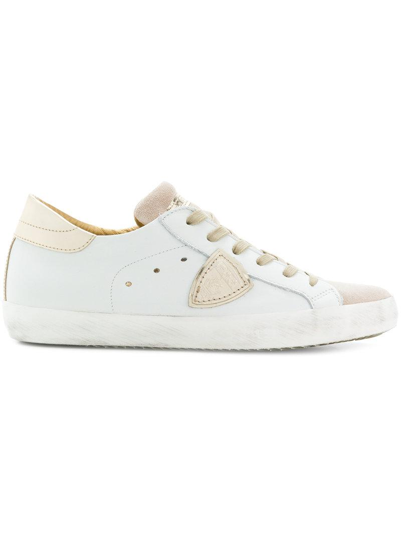 suede-panelled sneakers - White Philippe Model db2f55