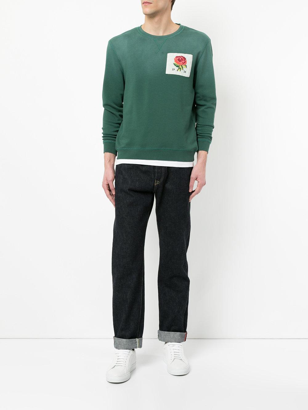 logo patch sweatshirt - Yellow & Orange Kent & Curwen Popular 8Ey2KmvTn