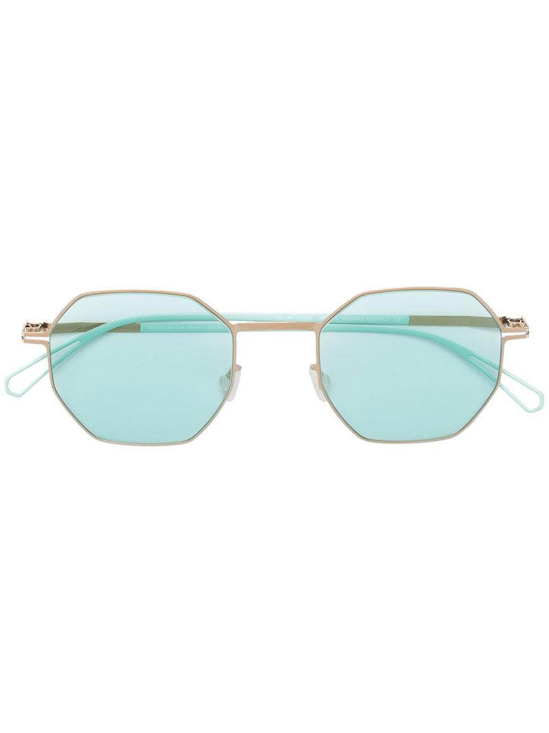 hexagonal shaped sunglasses - Green Mykita RDhuXk