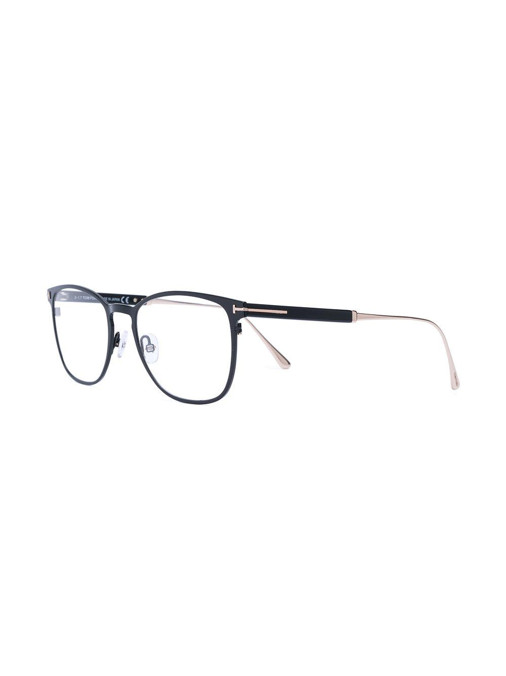 9612ebe13a Tom Ford Round Thin Frame Glasses in Black for Men - Lyst