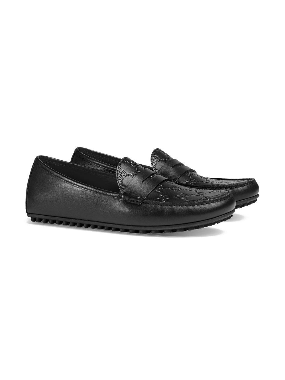 6ddcc706302a8 Lyst - Gucci Signature Driver Shoes in Black for Men - Save 2%