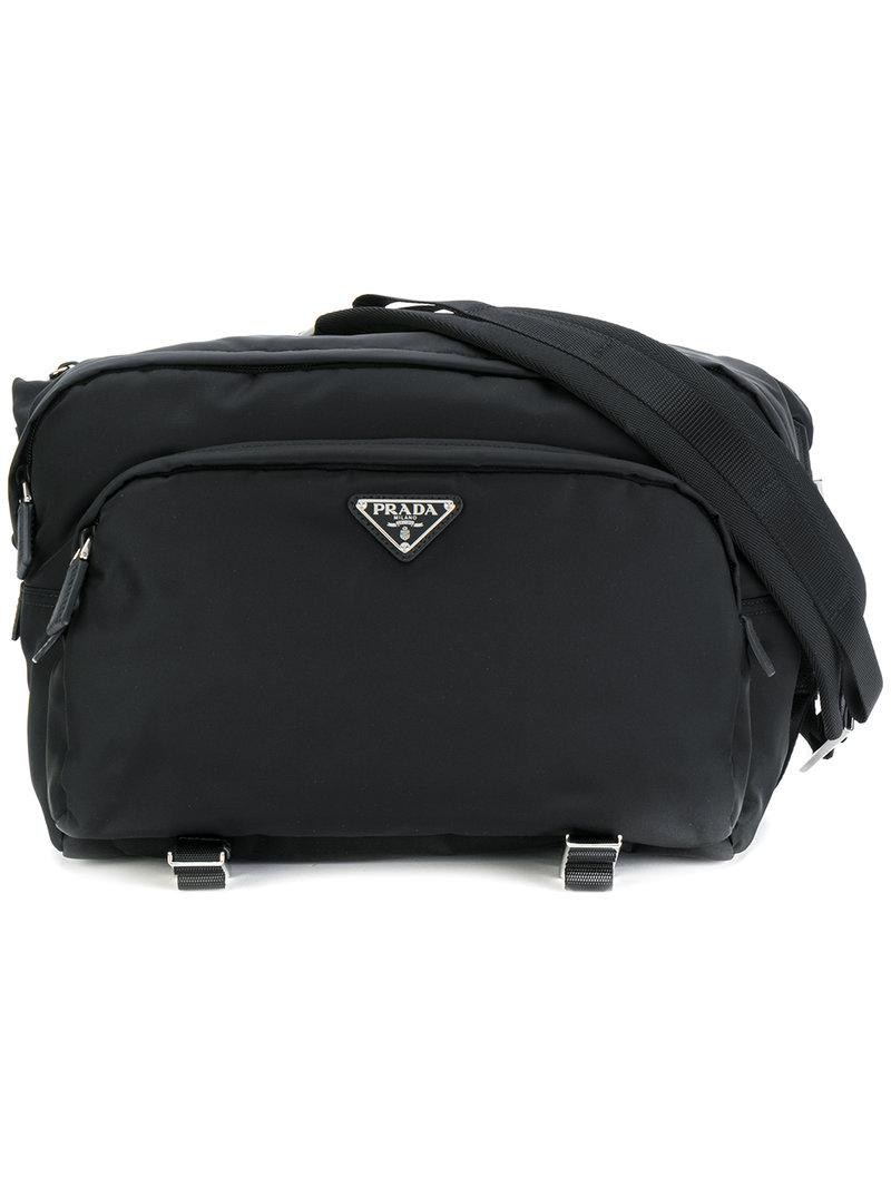 Lyst - Prada Nylon Large Cross Body Bag in Black for Men 5c719f534486b