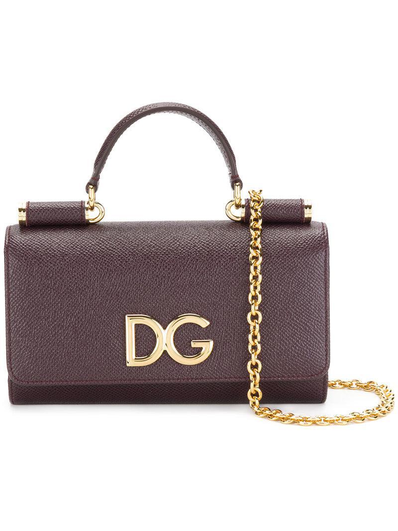 88d479a091 Dolce   Gabbana Mini Von Wallet Crossbody Bag in Purple - Lyst