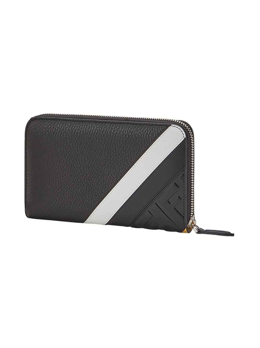 8800355ddca Fendi Debossed Ff Logo Wallet in Black for Men - Lyst