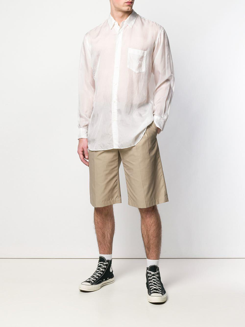 c83cfea349 Lyst - Comme des Garçons Semi-sheer Shirt in White for Men