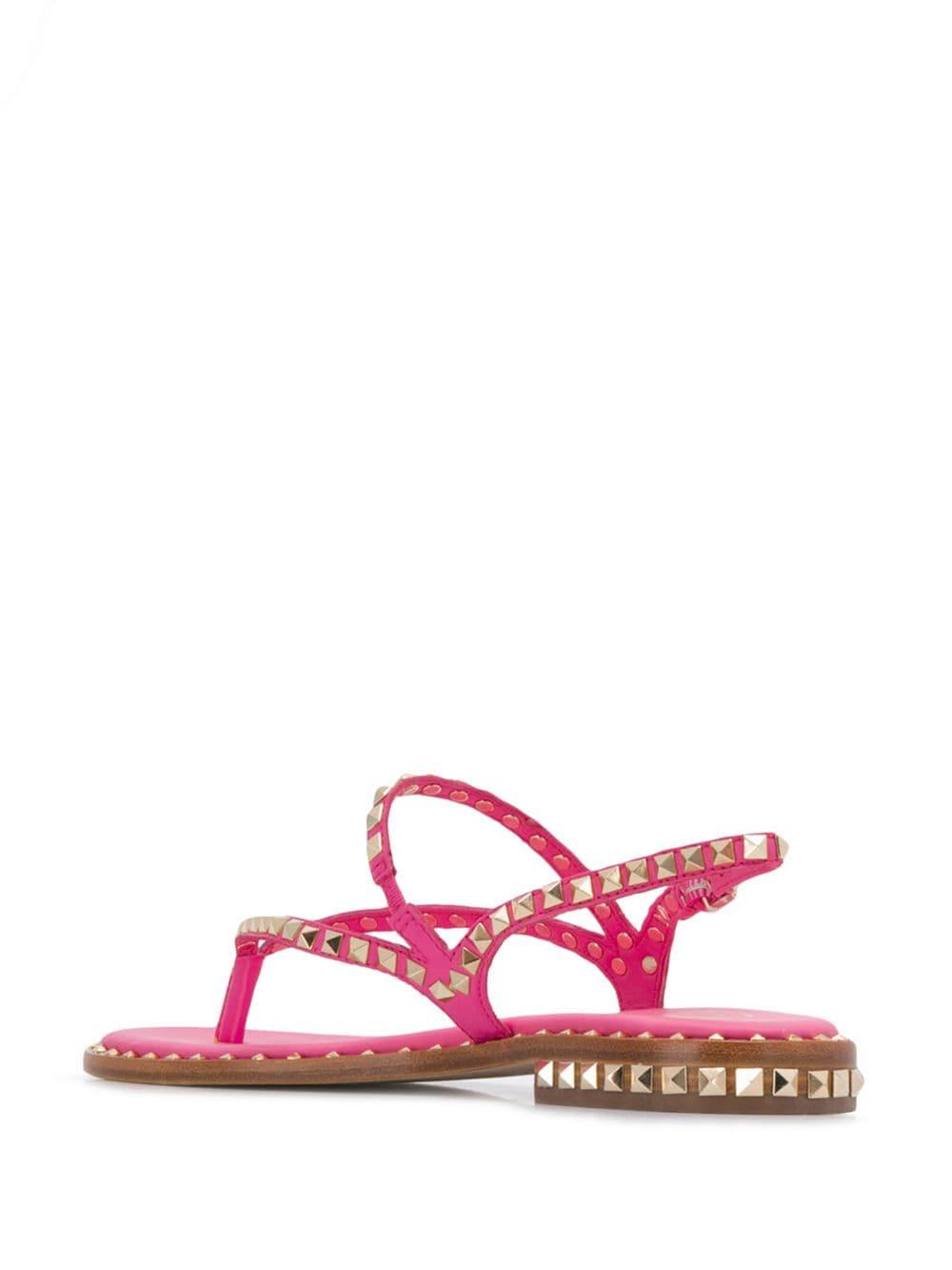 84df29b37 Ash - Pink Peps Studded Strappy Sandals - Lyst. View fullscreen