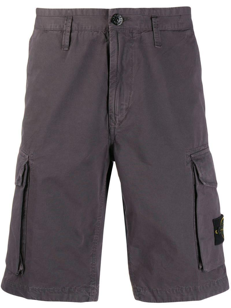 5c7412f948 Lyst - Stone Island Classic Cargo Shorts in Gray for Men