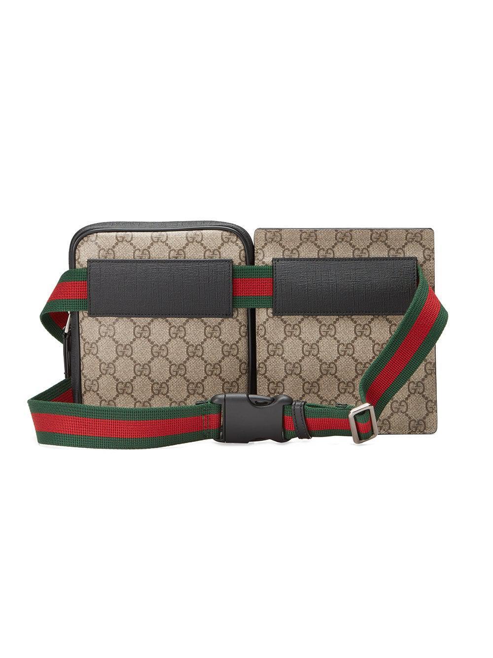 9311c4ecad0 Lyst - Sac ceinture en toile Suprême GG Gucci pour homme