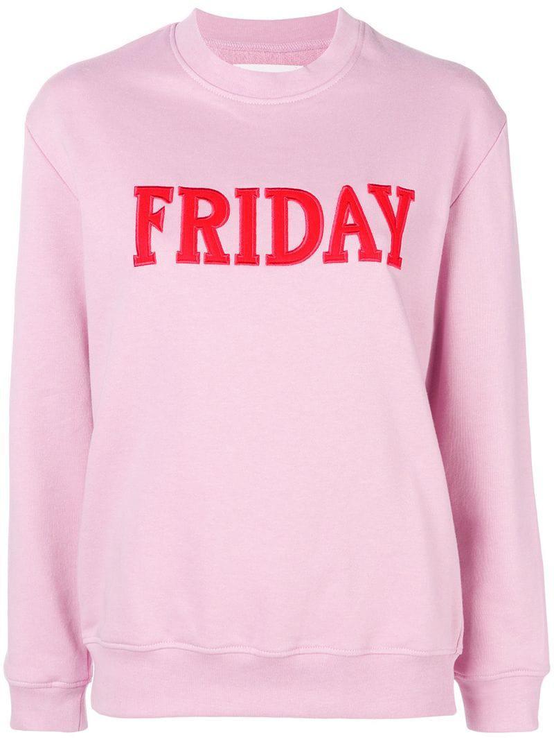 d60f368a0a Alberta Ferretti Friday Jersey Sweater in Pink - Lyst