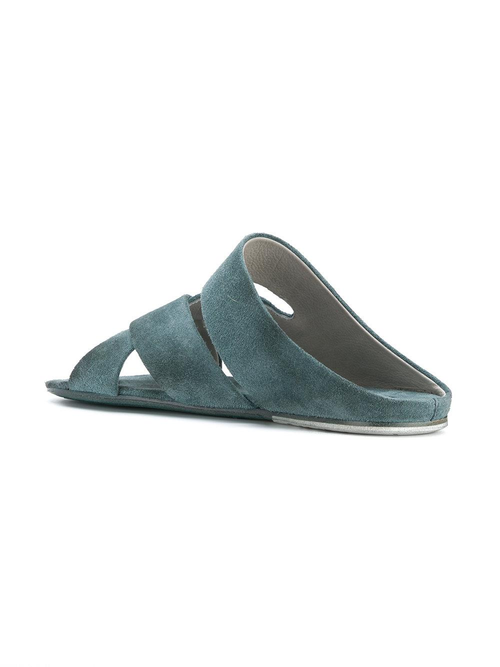 distressed woven front sandals - Green Mars zyBoZgC
