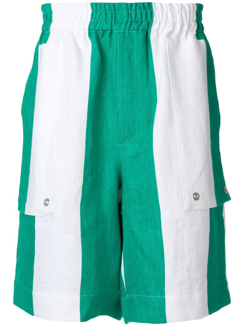 striped elasticated waist shorts - White Études Studio Enjoy Sale Online Factory Sale Original Sale Enjoy Get To Buy Cheap Online cfW6jkGkA