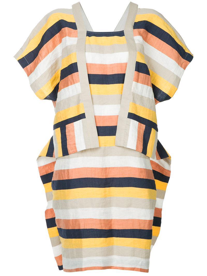 striped sheet dress - Multicolour Henrik Vibskov Great Deals Cheap Online Discount Genuine Outlet Get Authentic Amazing Price Sale Online e80JrbRZ0