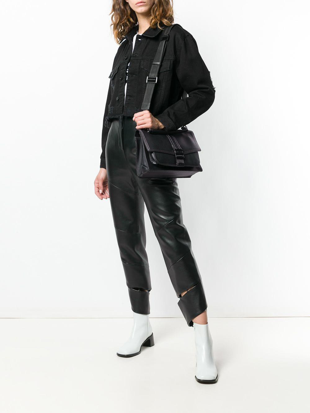 7123fbf0be11 Lyst - DIESEL Miss-match Crossbody Bag in Black