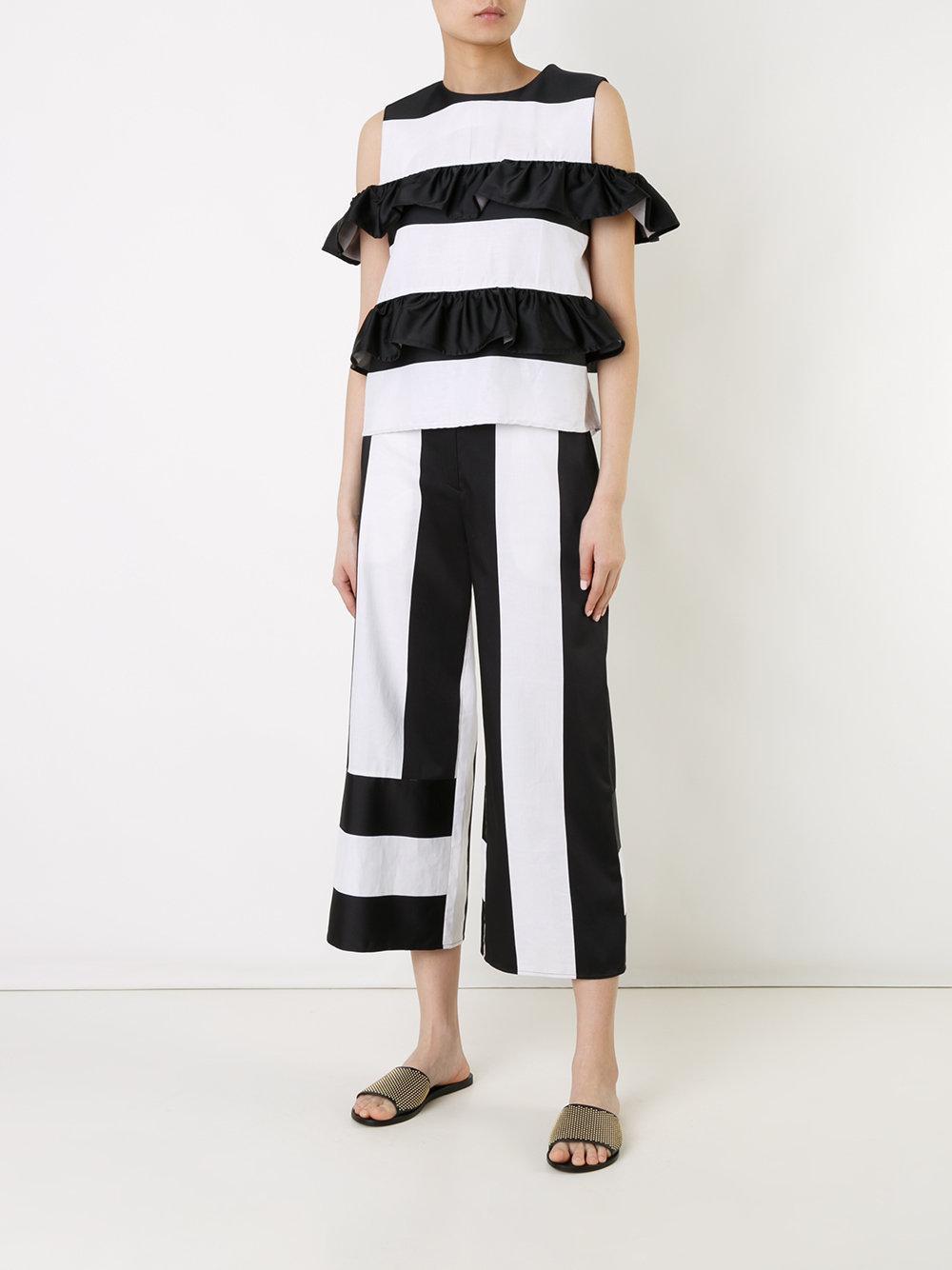 panel cropped trousers - White GOEN.J UIiJ7QSw1g