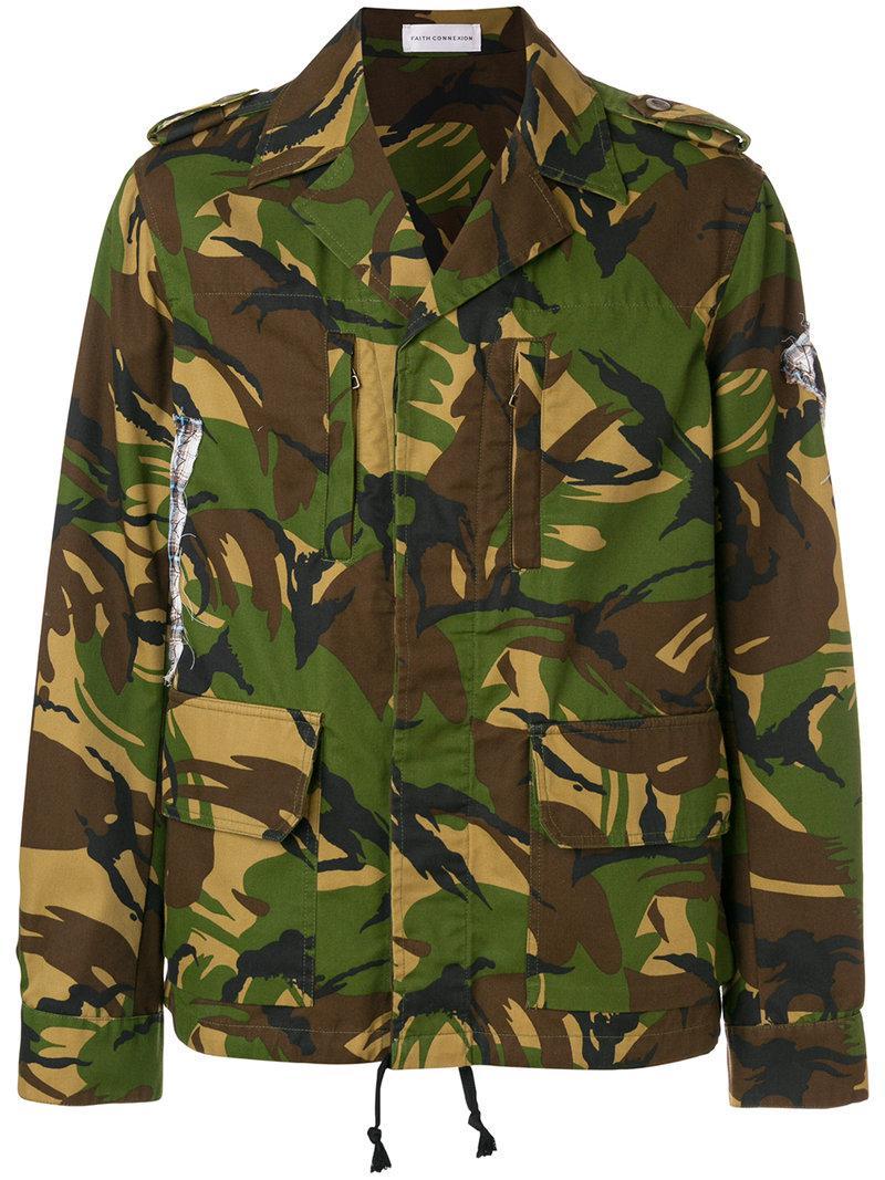75fc71f1c5e8 Lyst - Veste imprimée camouflage Faith Connexion pour homme en ...
