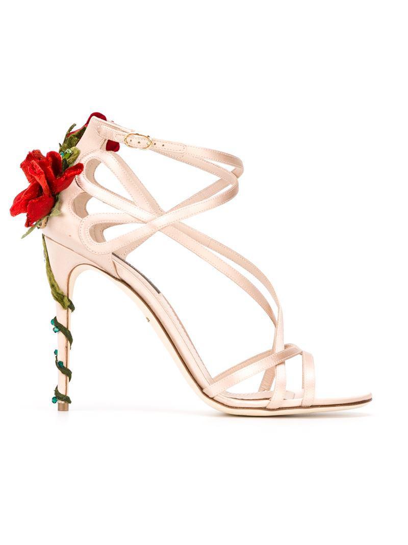 Dolce Et Escalade Gabbana Rose Sandales - Rose Et Violet hkkssihz