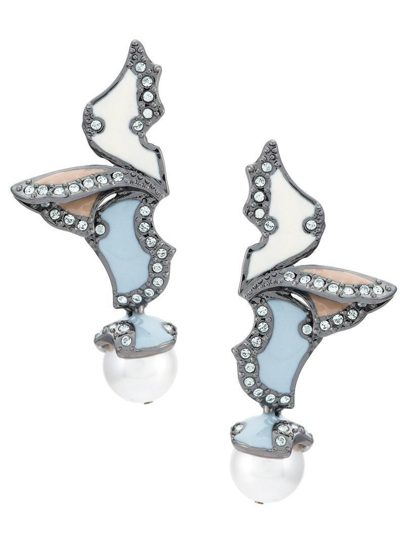 enamelled drop earrings - Metallic Camila Klein x943D