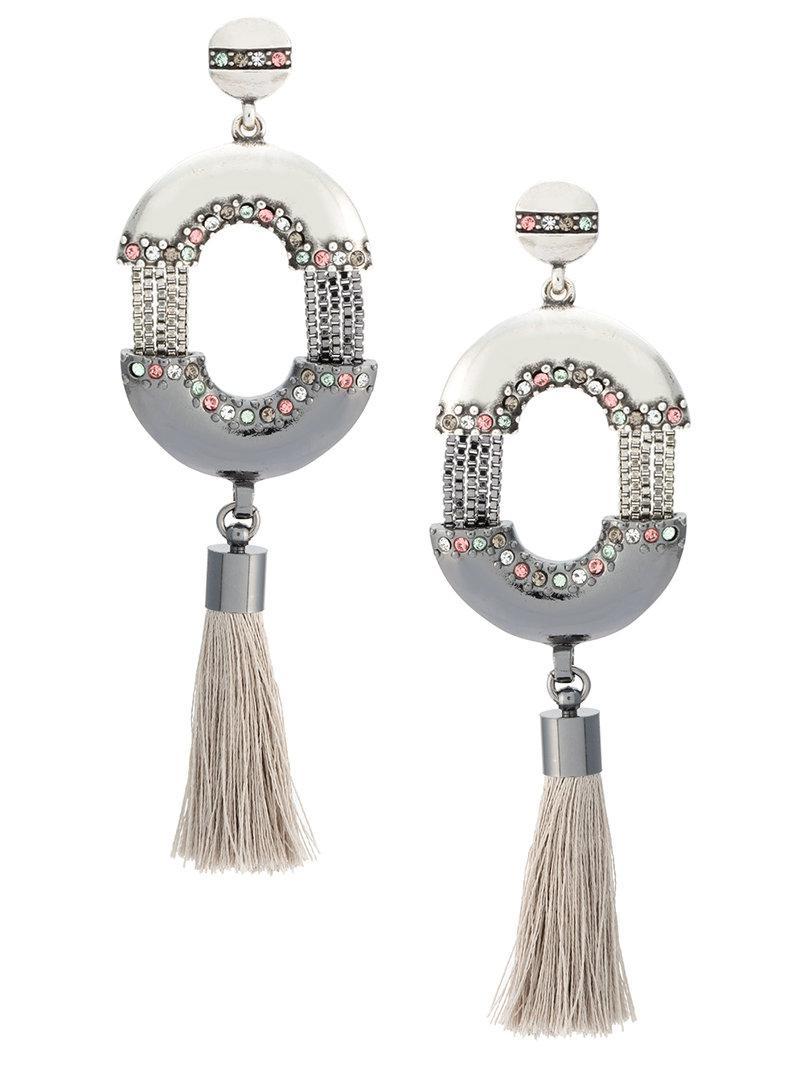 Camila Klein resin earrings - Metallic 75AF5GhFu