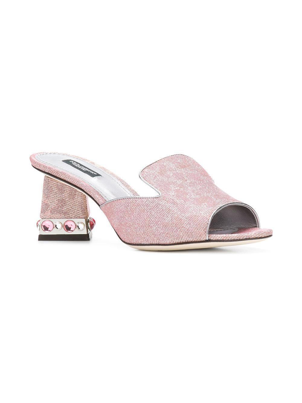 Dolce & Gabbana Leo glitter open toe mules cZsy3uNsx