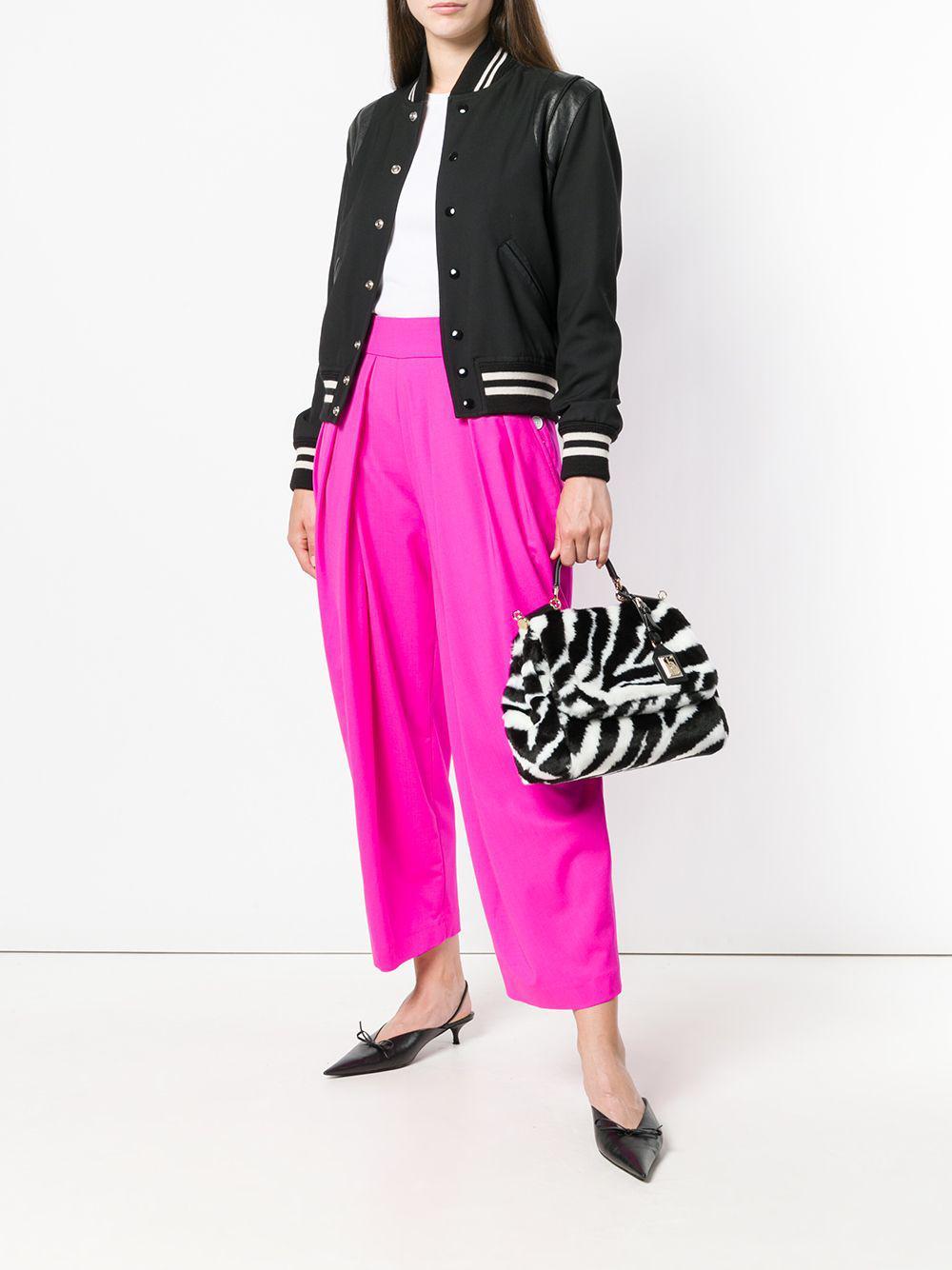 bc0740746c8c Dolce   Gabbana - Black Zebra Print Sicily Bag - Lyst. View fullscreen