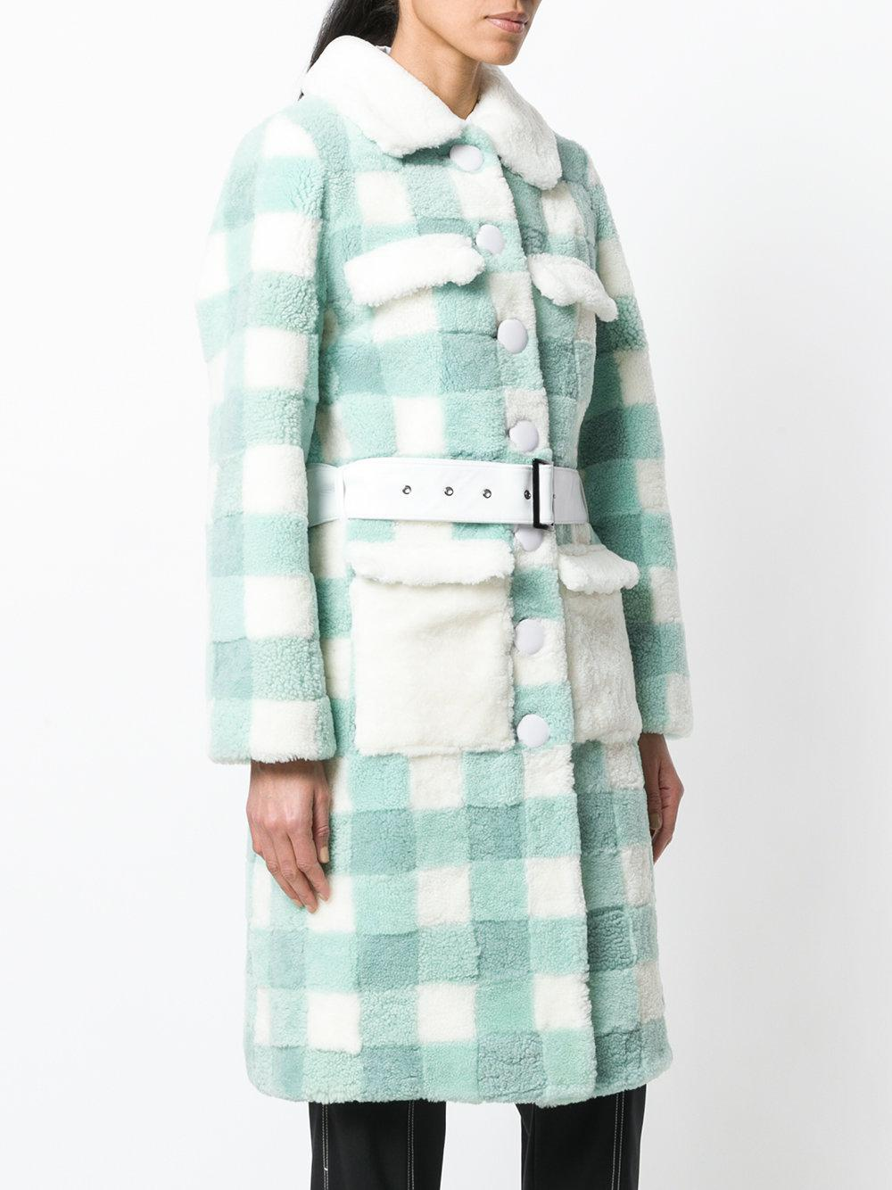Cool Shopping Purchase Sale Online Saks Potts checked belt coat Online Cheap Store Sale Online RZUFEcyyI